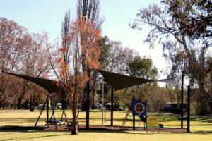 Covered play area Riverglade Caravan Park