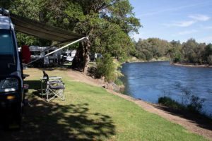River front sites Riverglade Caravan Park