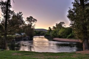 Twilight on the Tumut Riverglade CAravan Park